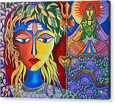 Shiva-sati Acrylic Print by Deepti Mittal