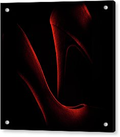 Shoe In Red Acrylic Print