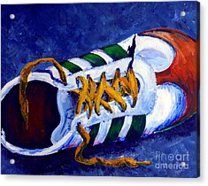 Acrylic Print featuring the painting Shoeless by Jackie Carpenter