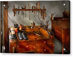 Shoemaker - The Cobblers Shop Acrylic Print by Mike Savad