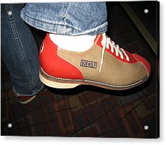 Shoes - Bowling - 01131 Acrylic Print