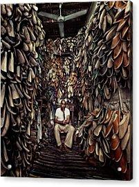 Shoes Maker Acrylic Print
