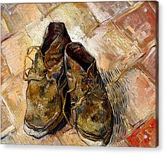 Shoes Acrylic Print by Vincent van Gogh
