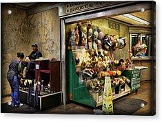 Shoeshine On A Sunday Acrylic Print by Lee Dos Santos