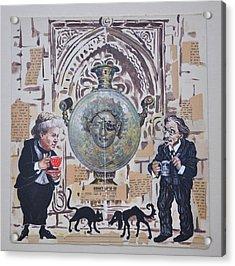 Sholem Aleichem And Selma Lagerlof In Jerusalem Acrylic Print by Nekoda  Singer