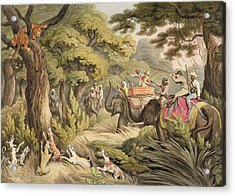 Shooting A Leopard, From Oriental Field Acrylic Print