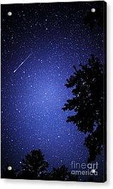 Shooting Star And Satellite Acrylic Print