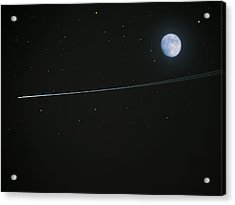 Shooting Star Acrylic Print by Pete Trenholm