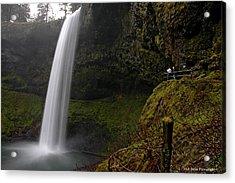 Shooting The Falls Acrylic Print by Nick  Boren