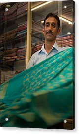 Shopkeeper - India Acrylic Print