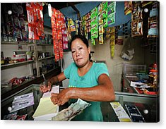 Shopkeeper With Leprosy Acrylic Print