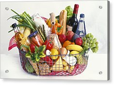 Shopping Basket Acrylic Print by Science Photo Library
