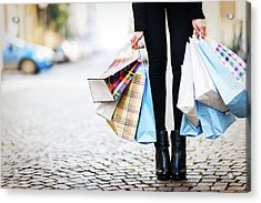 Shopping Acrylic Print by Larabelova