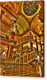 Shops Of Gold Acrylic Print by Zachary Cox