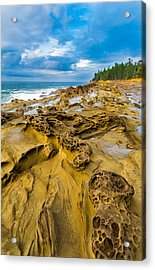 Shore Acres Sandstone Acrylic Print by Robert Bynum