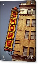 Shore Building Sign - Coney Island Acrylic Print