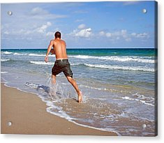 Shore Play Acrylic Print by Keith Armstrong