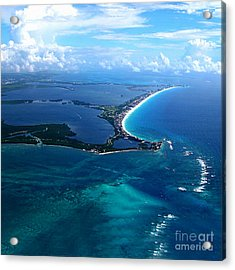 Shoreline-cancun Acrylic Print by Addie Hocynec