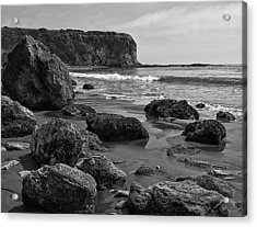 Shoreline Near Abalone Cove Acrylic Print by Ron Regalado