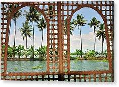 Shoreline Of The Kerala Backwaters Acrylic Print
