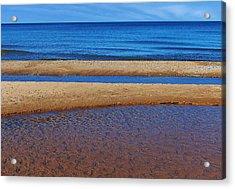 Shoreline Reefs Acrylic Print by Kathi Mirto