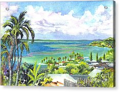 Shores Of Oahu Acrylic Print by Carol Wisniewski