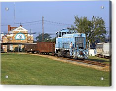 Short Train In A Small Town Acrylic Print