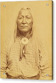 Shoshone Chief Washakie Acrylic Print by Paul Ashby Antique Image