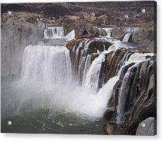 Shoshone Falls Acrylic Print by Angela Stout
