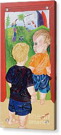 Should We Go In Acrylic Print by Lisa Kramer