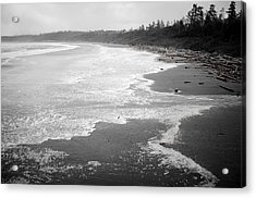 Winter At Wickaninnish Beach Acrylic Print