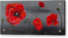 Show Off Poppies Acrylic Print