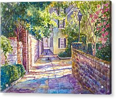 Showdown In Price's Alley Acrylic Print by Alice Grimsley