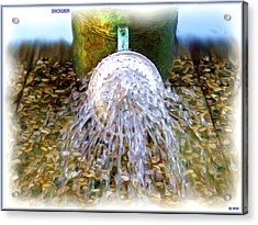 Shower Acrylic Print by Daniel Janda