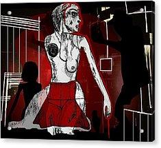 Showgirl Acrylic Print by Franziska Kolbe