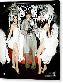 Showgirls And Photographer With Polaroid Acrylic Print by Nina Prommer