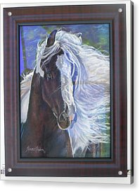 showing frame on Pearlie King Acrylic Print