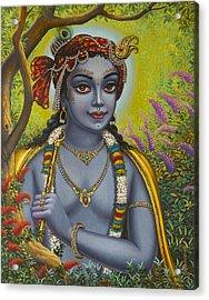 Shree Krishna Acrylic Print by Vrindavan Das