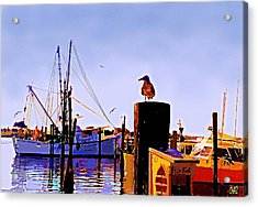 Shrimp Boat At Dock Acrylic Print