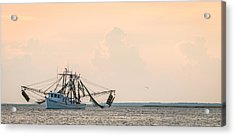 Shrimp Boat At Sunset - Edisto River Photograph Acrylic Print