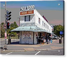 Shrimp Boat Benning Road Acrylic Print by Charles Shoup