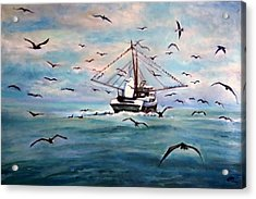 Shrimp Boat Costa Rica Acrylic Print