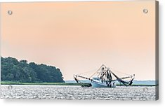 Shrimp Boat On The Edisto River - Fishing Boat Photograph Acrylic Print