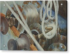 Shrimp Boat - Out Of Service Acrylic Print
