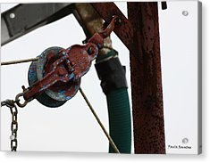 Shrimp Boat Pulley Acrylic Print by Paula Rountree Bischoff