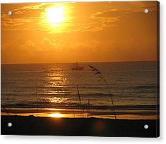 Shrimp Boat Sunrise Acrylic Print