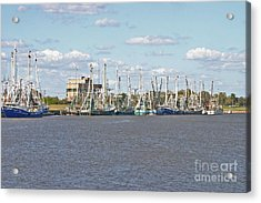 Shrimp Boats 2 Port Arthur Texas Acrylic Print by D Wallace