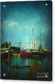 Shrimp Boats Is A Comin Acrylic Print by Lianne Schneider