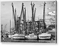 Shrimp Boats Acrylic Print by Robert  FERD Frank