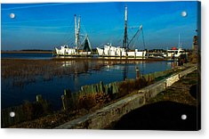 Shrimp Boats Acrylic Print by Will Burlingham